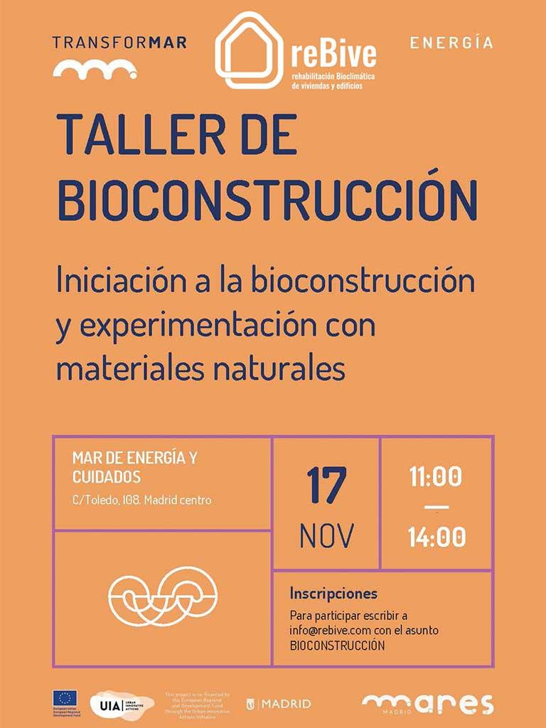 Taller de bioconstrucción en Madrid